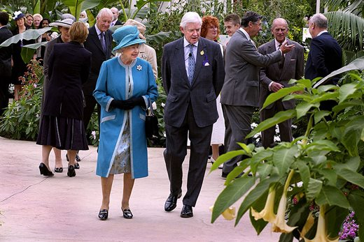 HM The Queen officially opens the Wisley Glasshouse
