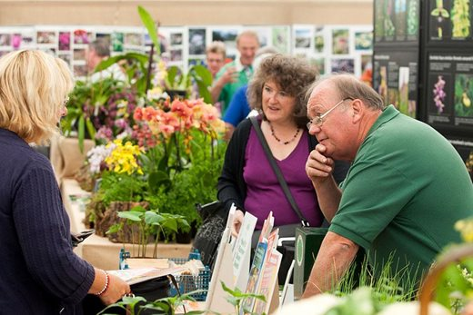 Visitors at a Plant Society event