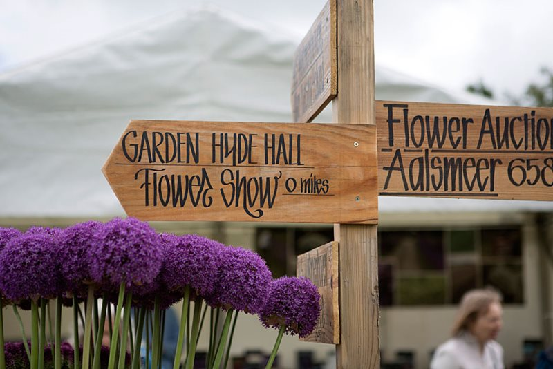 Hyde Hall Flower Show sign